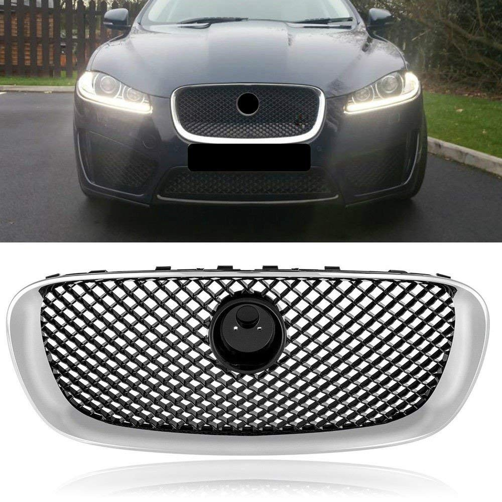 Chrome Frame Upper Grill Grille for Jaguar XF 12-15 XFR 2012 2013 2014 2015 XF-R