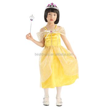 Walson Kids Belle Costume Girls Beauty And The Beast Fancy Dress
