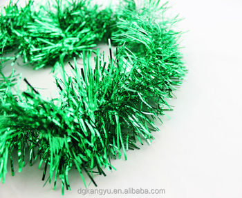wholesale beaded christmas holiday decorations tinsel plastic garlands for wedding
