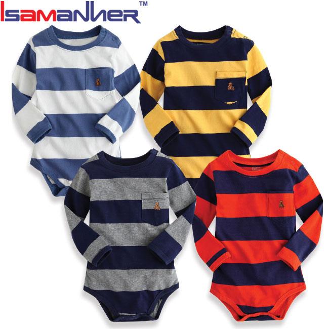 Langarm baby junge clothes100 % baumwolle ein stück overall baby strampler