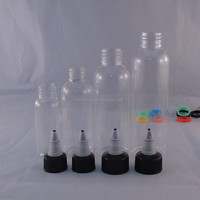 30ml 60ml 100ml 120ml PET transparent plastic dropper bottle with twist off top cap from manufacturer in China