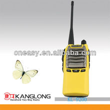 VOX longo alcance transceptor <span class=keywords><strong>fm</strong></span> amarelo militar walky talky 15 km