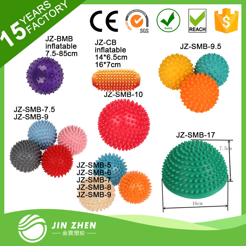 high quality hot sell eco-friendly swiss ball with massage ball dot