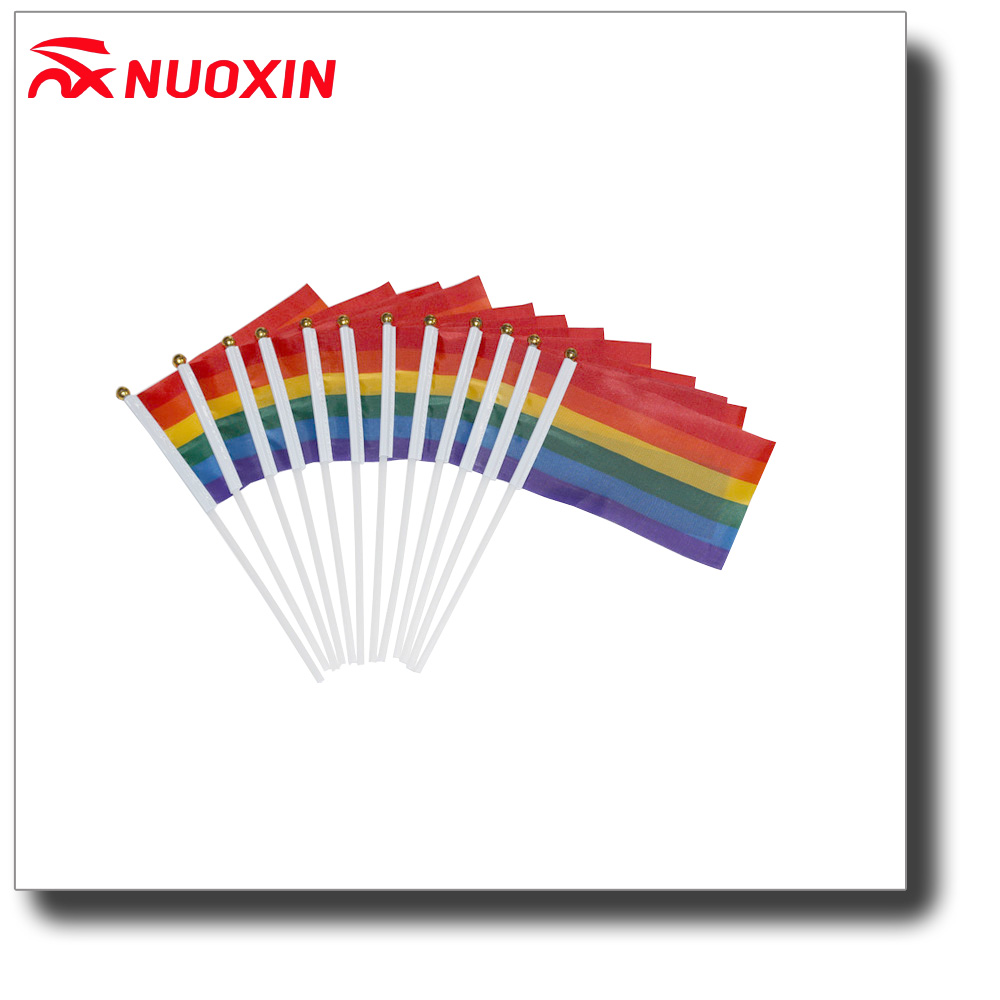 NX Promotion Small Polyester Promotion Rainbow Flag Holder