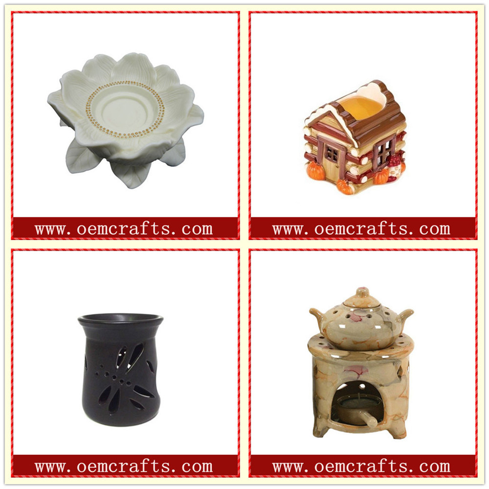 Wholesale Grey Well Soothing Ceramic Stone Oil Burner