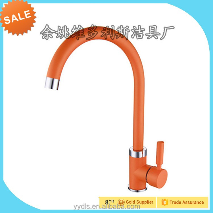 360 degree flexible faucet hose multiple color silcone outer tube