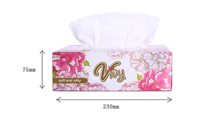 Easy To Use Draw-out Tissue Paper Reasonable Prices Box Facial Tissue Paper