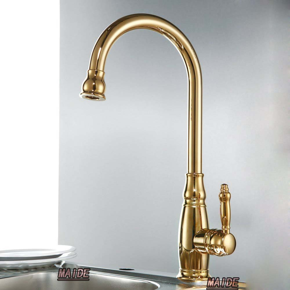 Gold Kitchen Faucet: Aliexpress.com : Buy Solid Brass Construction Classic
