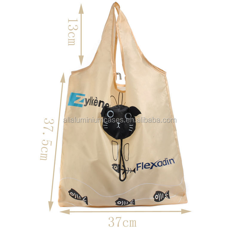 foldable shopping bag nylon /promotional carton foldable bags with logo
