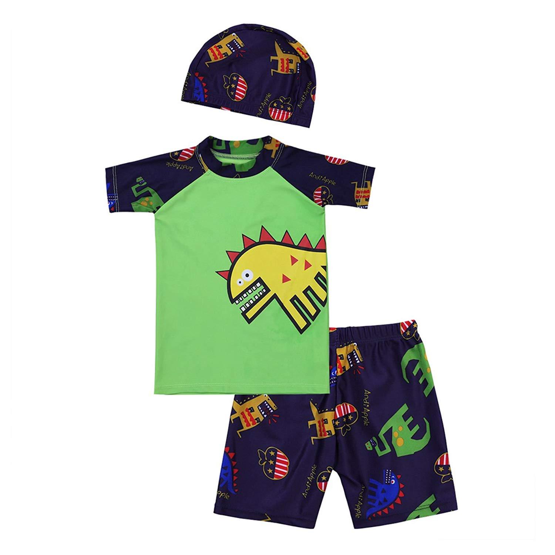 YKTY Little Boys Dinosaur Short Sleeve Set 2Pcs T-Shirt/&Pants