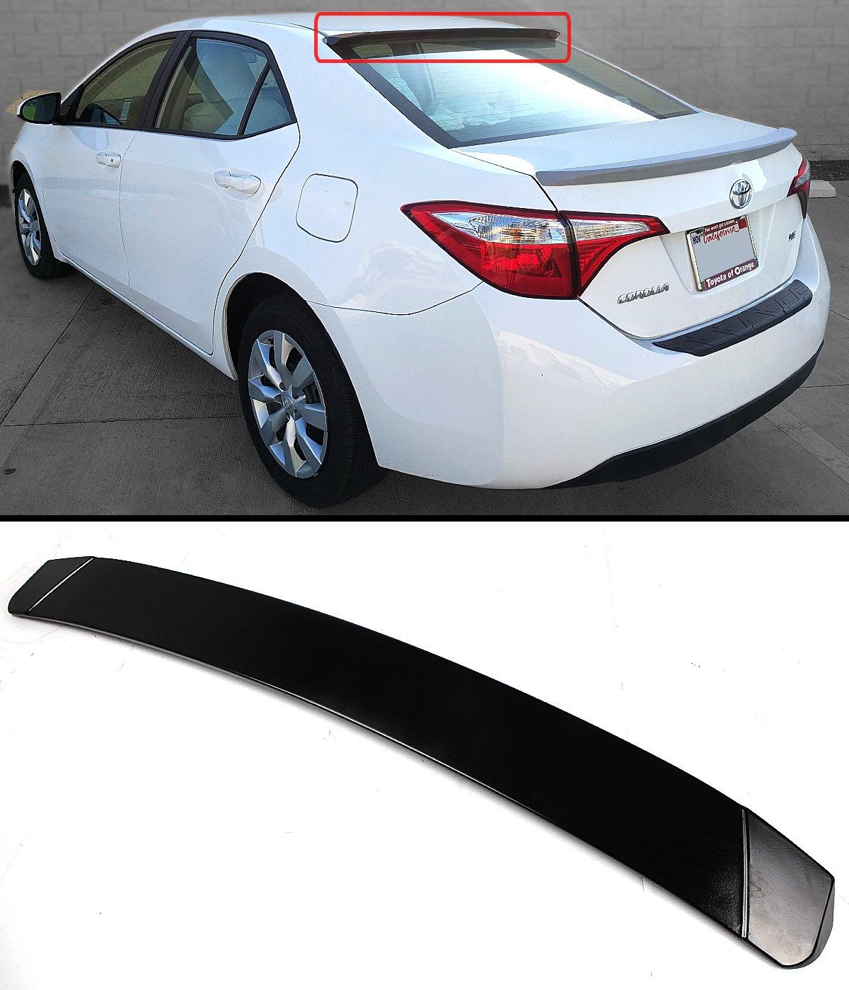 2009-2010 Toyota Corolla ABS Rear Roof Window Visor Spoiler Wide Type
