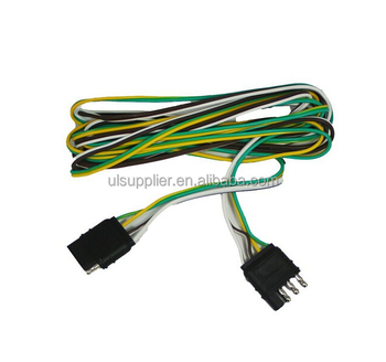 S10388 4 Way 4 Pin Plug Flat 20 Gauge Trailer Light Wiring Harness on