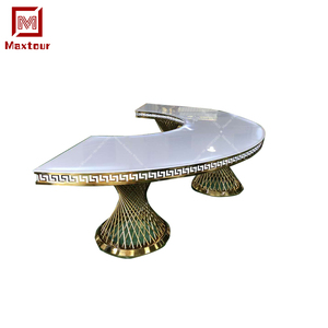Wedding event furniture Led light acrylic moon stainless steel wedding dining table