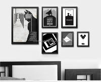 2017 wholesale newest custom black color canvas print wall art