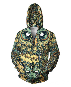 Custom made men's sublimation hoodies with fully zipper up