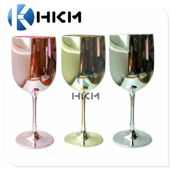 The Plastic Glassware Factory Gold Plating Decorative Drinking Wine