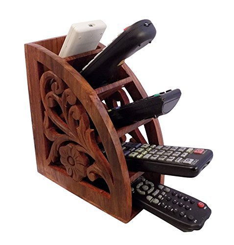 Get Quotations · Dungri India ® Wooden Multi Remote Control Holder/stand/ Organizer/rack For Space