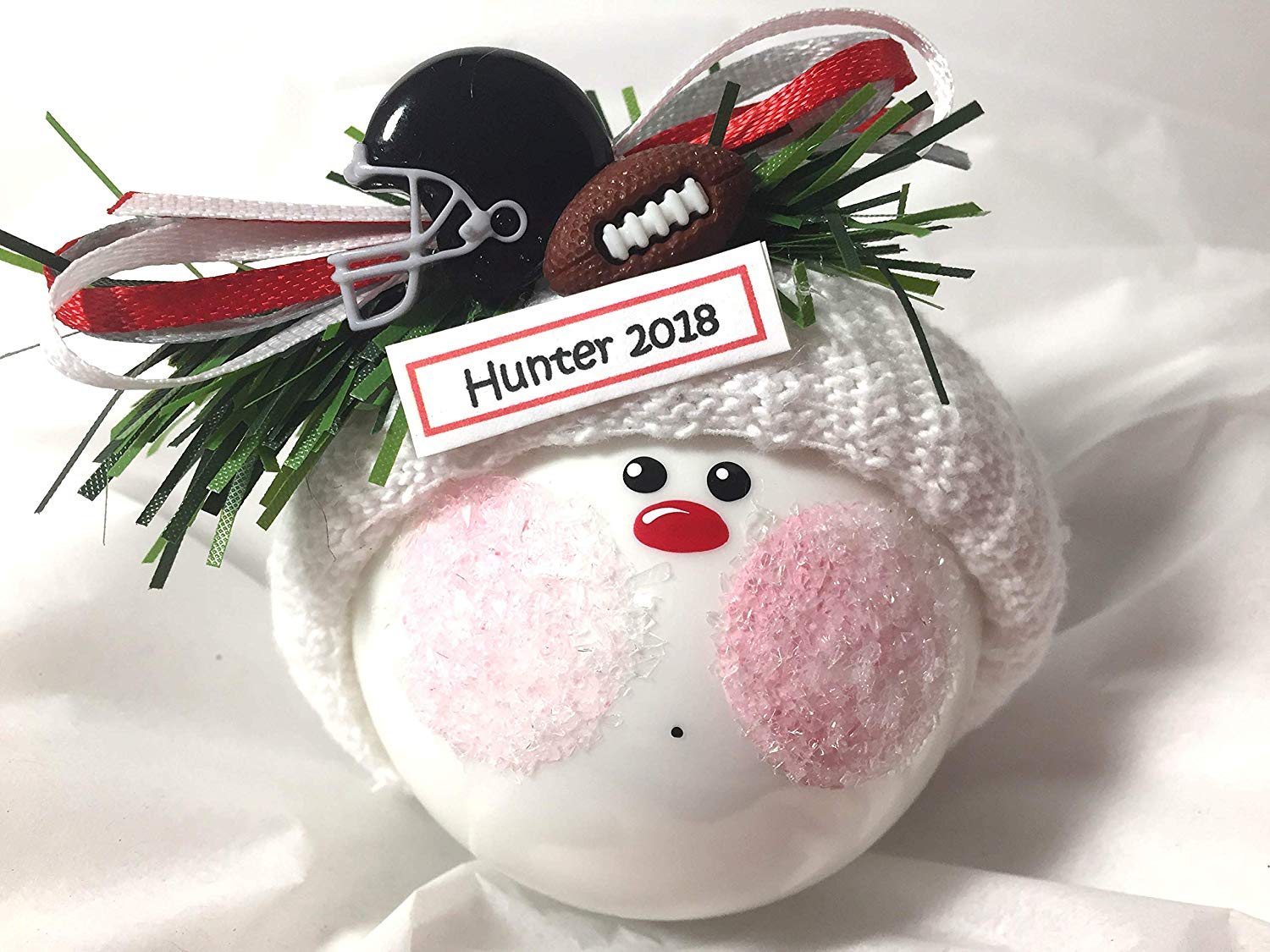 d20527385b0 Get Quotations · Football Christmas Ornament Football Helmet Personalized  Sports Hand Painted Handmade and Themed by Townsend Custom Gifts