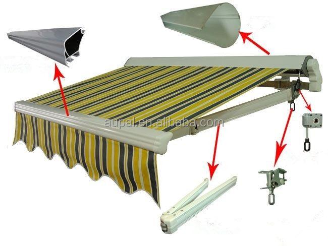 Patio esterno manuale tendalino a scomparsa braccio di for Tende da sole per esterni obi