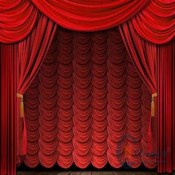 Electrically Operated Make Roll Up Fabric Stage Curtains