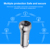 Qc3.0 fast charge type-C digital display car charger dual usb car charger