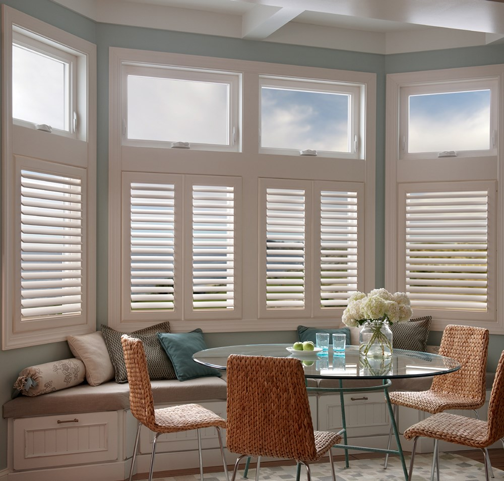 Guangzhou supplier interior pvc wood plantation window louver security shutters