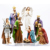 Resin Christmas White Nativity Figurine Set