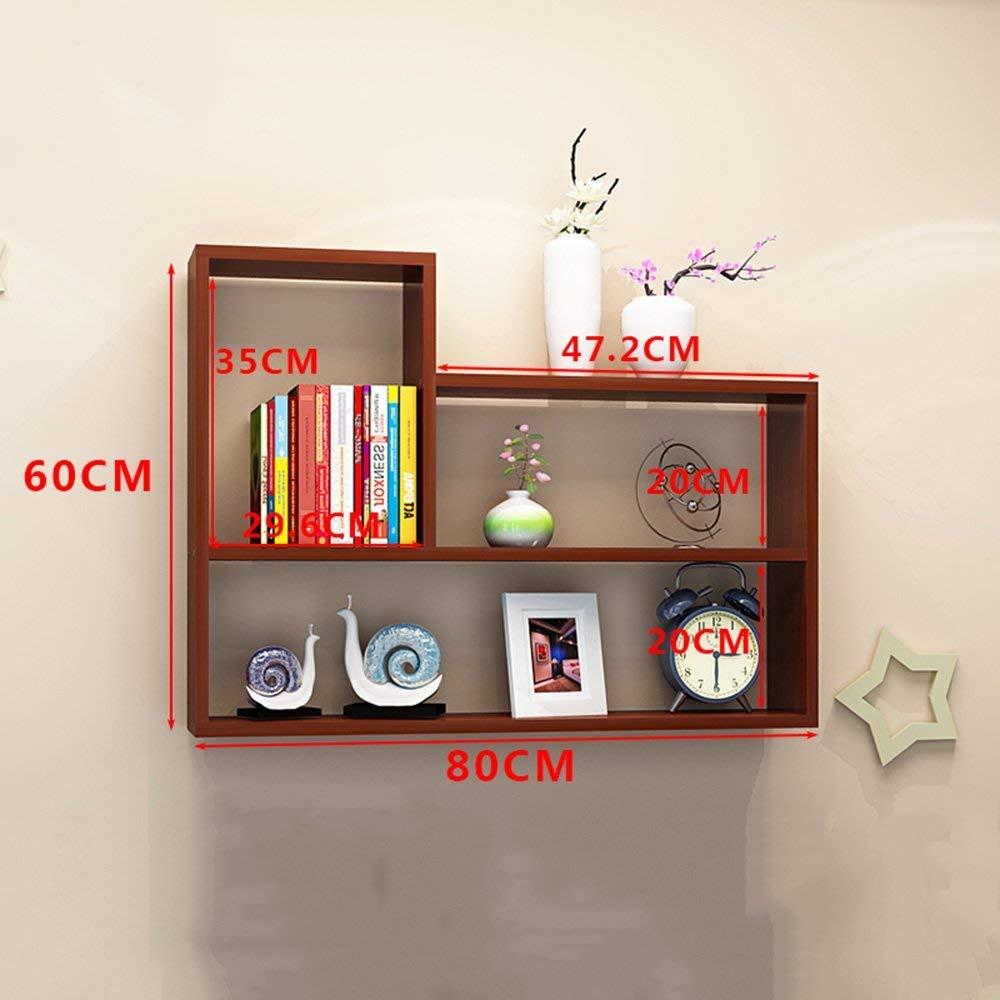 Bookshelf CHUNLAN Modern And Simple Wall-mounted High Capacity Wall Shelf Living Room Bedroom Study Shelf Shelf Decorative Frame Bookcase Closet 801560cm Multi-color Optional
