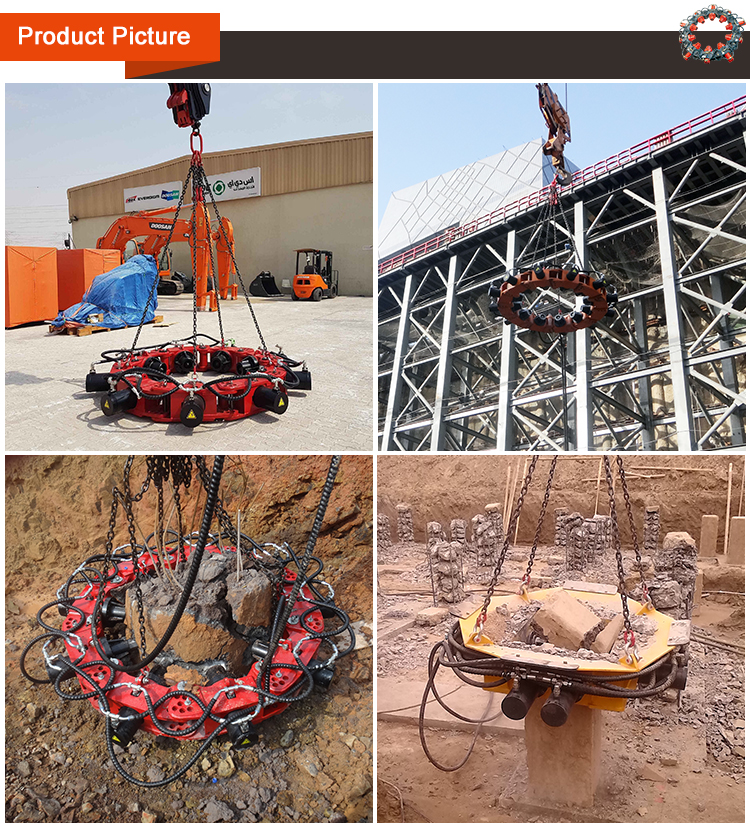Excavator Pile  Concrete Cutter Machine