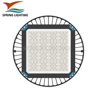 UL cUL SAA slim fixture 200w 240w ufo LED high bay light for Warehouse Lighting tempered glass Cover low bay light