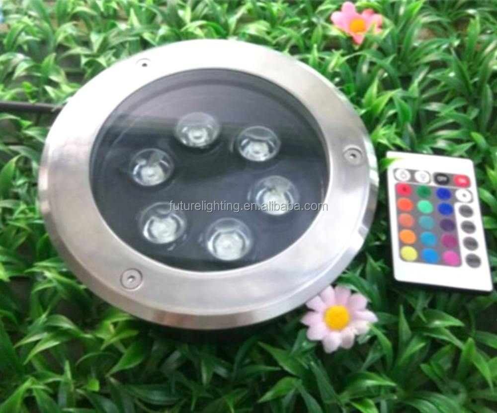 6W RGB led underground light with controller
