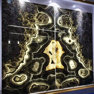 Factory Supply wall panel black onyx gem stones price