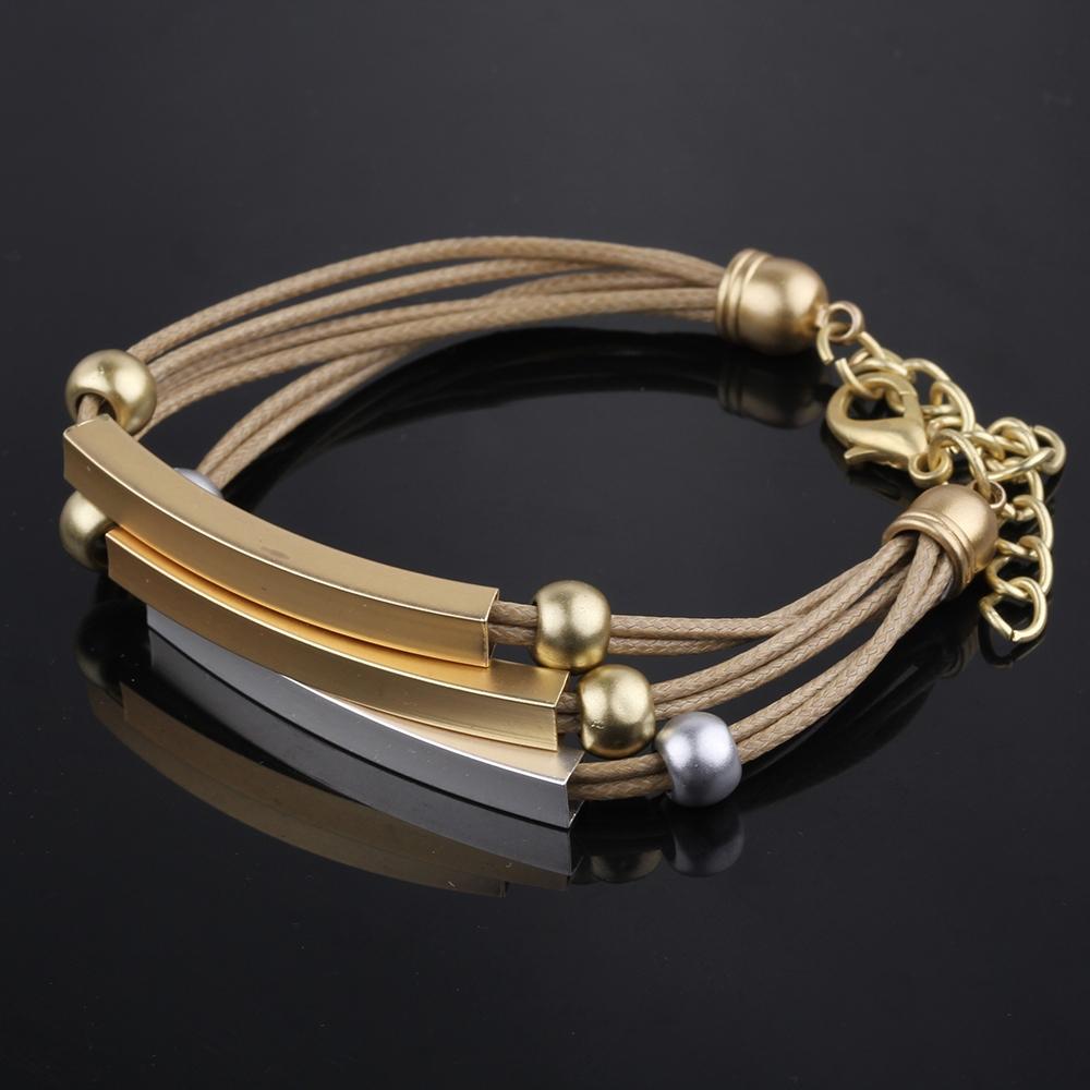 Вален бела браслеты 3 цвета металла веревки золото ID браслеты и браслеты для женщин бижутерии старинные мужчины ювелирные изделия Pulseira SZ3039