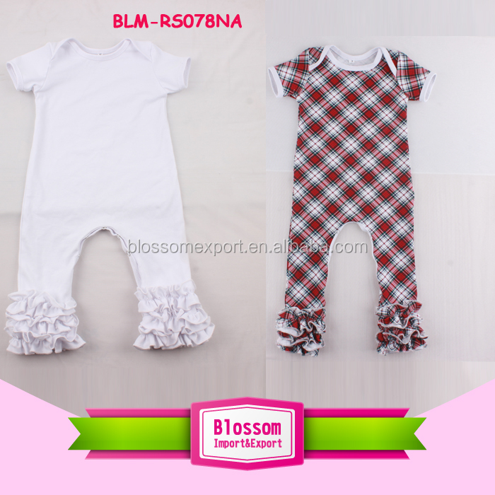 100 Cotton blank unique unisex baby names infant soft rompers ruffle icing onesie tee fancy long leg baby boys icing bodysuits