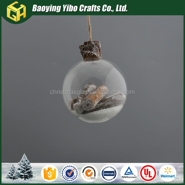 Decorative christmas craft low price clear round glass balls