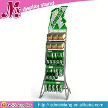 hat display stand, MX9261 display shelf rack with price strip
