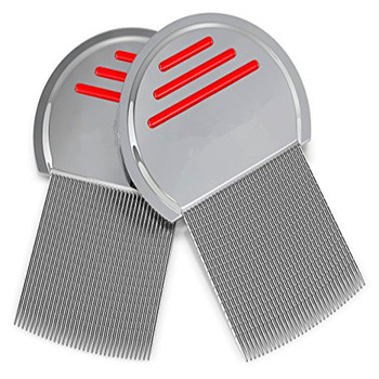 Nit Free Metal Lice Comb with stripe grooves most effective to get rid of lice and eggs
