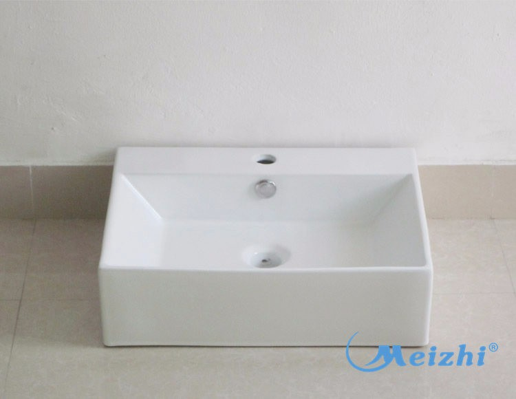 Hotel best quality square marble counter top wash basin korea