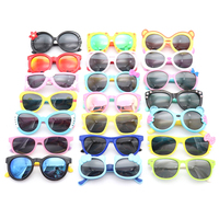 assorted ready mixed stock silicone kids rubber sunglasses baby girl boy with polarized lens