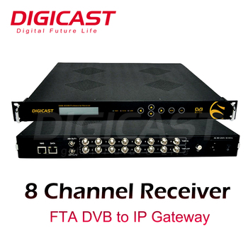 8 channels professional satellie receiver iptv streamer with dvb s s2 to ip out and dvb c s t2. Black Bedroom Furniture Sets. Home Design Ideas