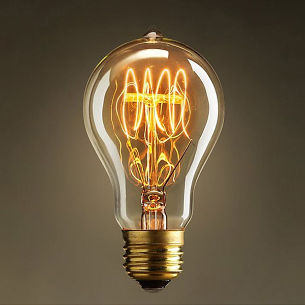 hot sale American style decorative A19 e27 110V 60W wholesale vintage edison light bulb <strong>manufactur</strong>
