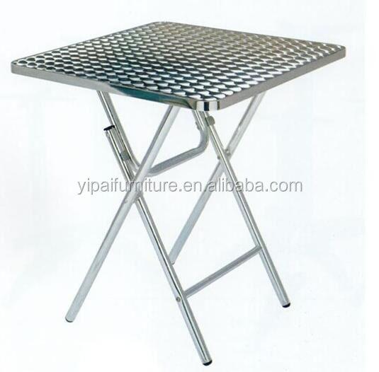 Stainless Steel Folding Table Breakfast
