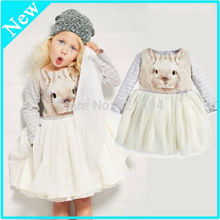 Baby Kids Girls White Princess Bunny Print Thick Tulle Party font b Fancy b font font