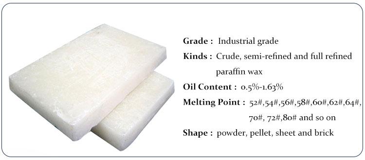 Toptan Üst Sınıf 58-60 58/60 Derece Kimyasal Hammadde Palmiye Balmumu Yarı tamamen rafine parafin