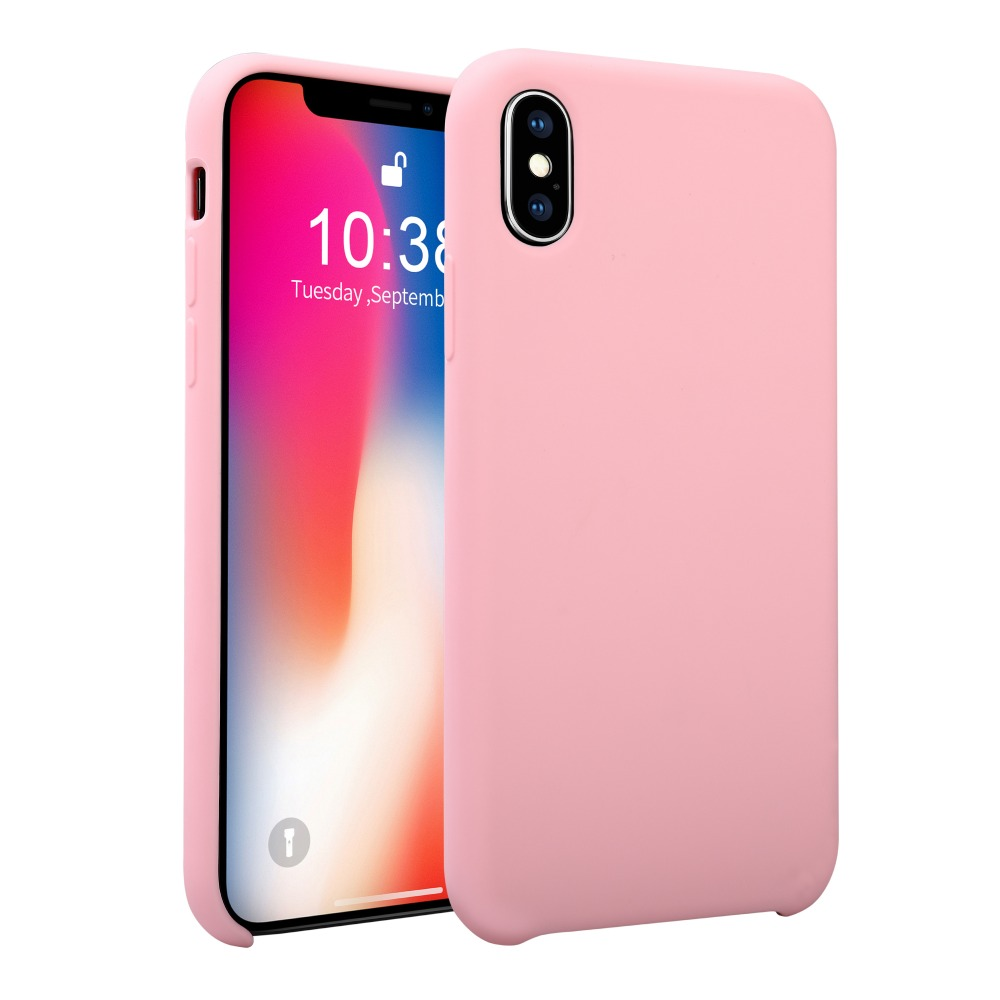 Candy Color Liquid Silicone <strong>Case</strong> for Apple iPhone XR Soft TPU Original Cell Phone Accessories Mobile Phone Shell for iPhone 6.1