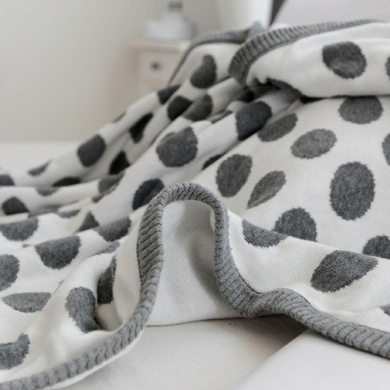 Özel Örme % 100% Organik pamuklu bebek battaniyesi