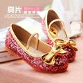 Princess Giltter Children Shoes Girls Sapatos Menina Children Beach Sandal Champagne Blue Pink Kids Girls Dress