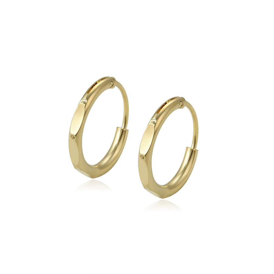 97227 xuping brazil bulk arabic 14k gold plated errings jewelry, copper alloy hoop earring