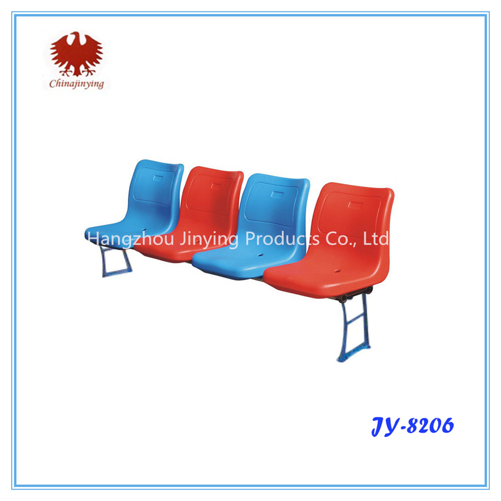 Discount outdoor stadium stands high back plastic chair seating