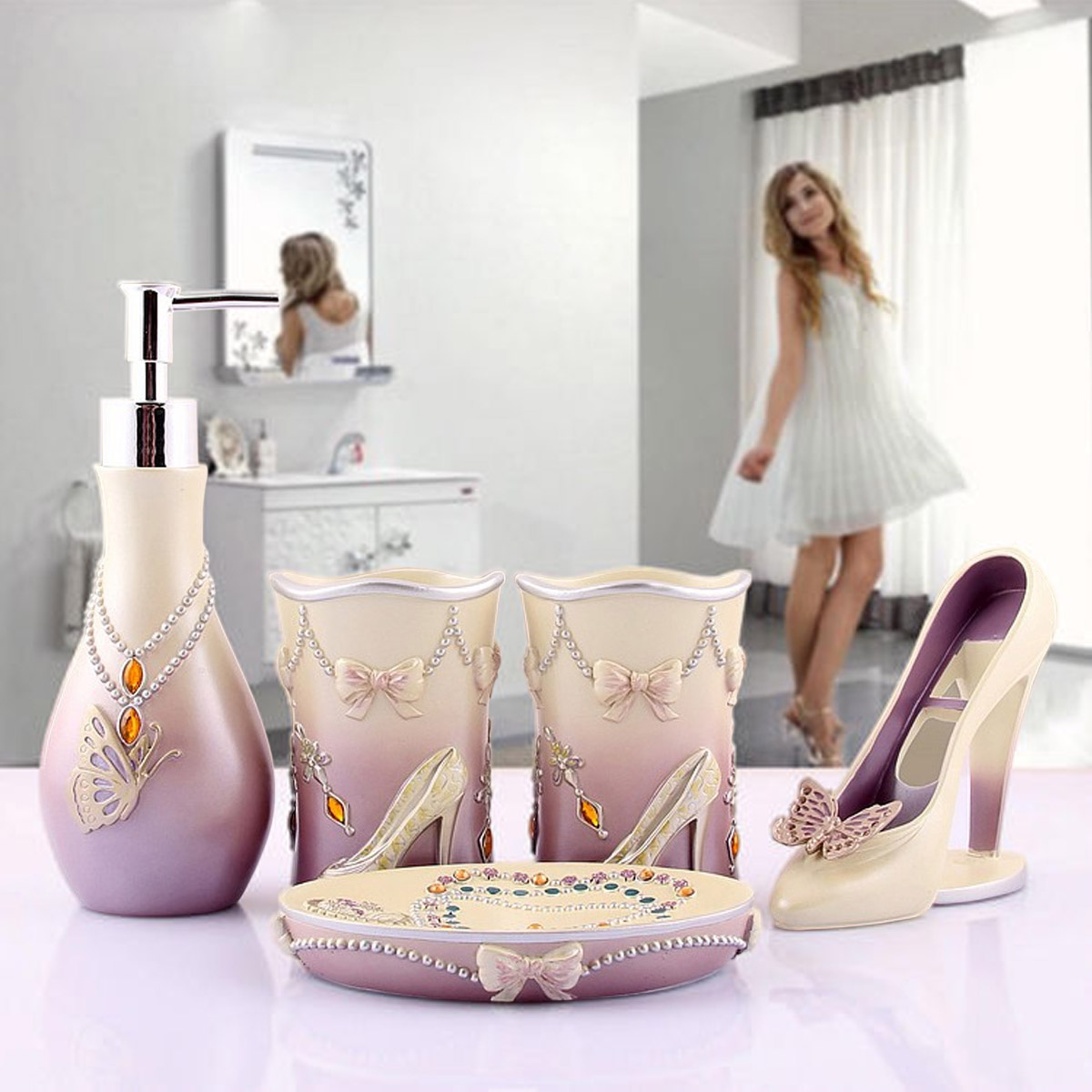 Aliexpress.com : Buy 5pcs Bathroom Accessories Set High